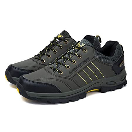 18ea4e23b2104 Amazon.com : Fiaya Men's Hiking Shoes Outdoor Anti Skid Waterproof ...