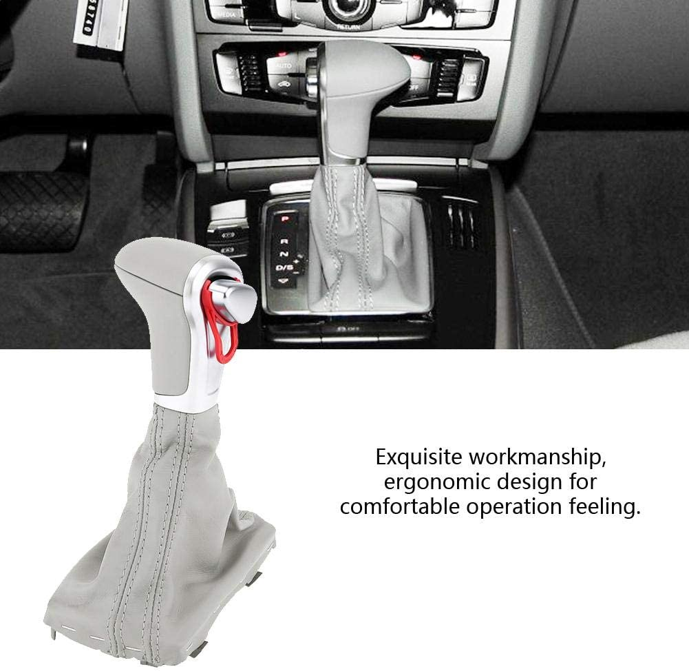Gear Lever Stick Head with Dust-proof for A4 A5 Q5 2009 2010 2011 2012 2013 2014 2015 2016 /& DSG S-Tronic Transmission Cuque Gear Shift Knob 8KD 713 139B AOE Gear Shifter Knob Gaiter Boot Cover