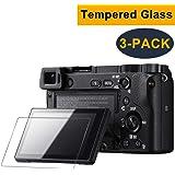 CAVN 3 Pcs Glass Screen Protector for Sony Alpha A6000 A5000 A6300 NEX-7 NEX-3N NEX-5 NEX-6 NEX-6L (Anti-Bubble) (Anti-scratch) (Anti-fingerprint) (Ultra-clear)