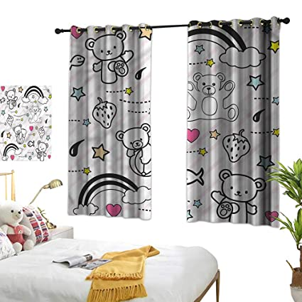 Amazon.com: G Idle Sky Bedroom Blackout Curtains Kids ...