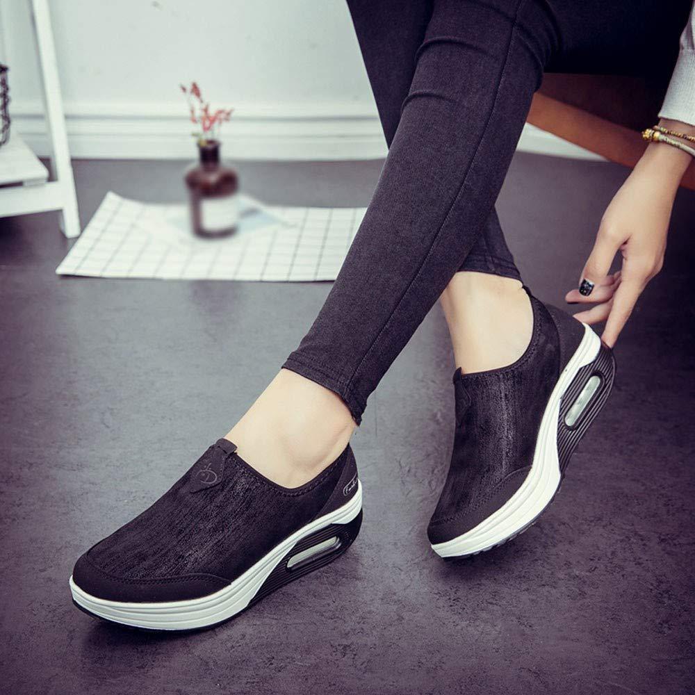 Logobeing Zapatos Comodos Mujer Moccasins Mujer Zapatillas Plataforma Mujer Zapatos de Mujer Casuales Zapatos Deportivos con Cordones para Correr
