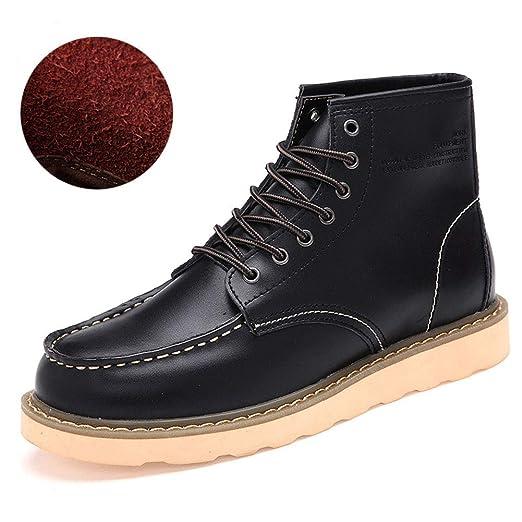 Rui K25 Stivali da Uomo Comfort Martin Stivali in Pelle di