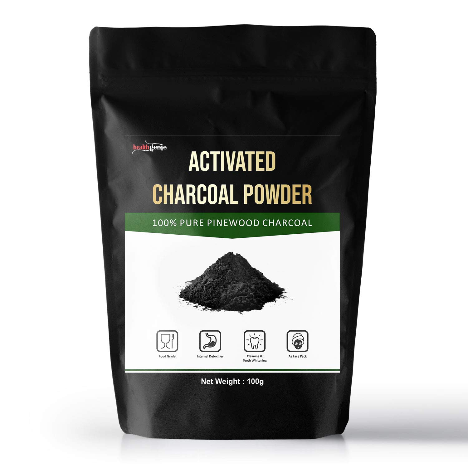 Healthgenie Activated Charcoal Powder For Face, Skin And