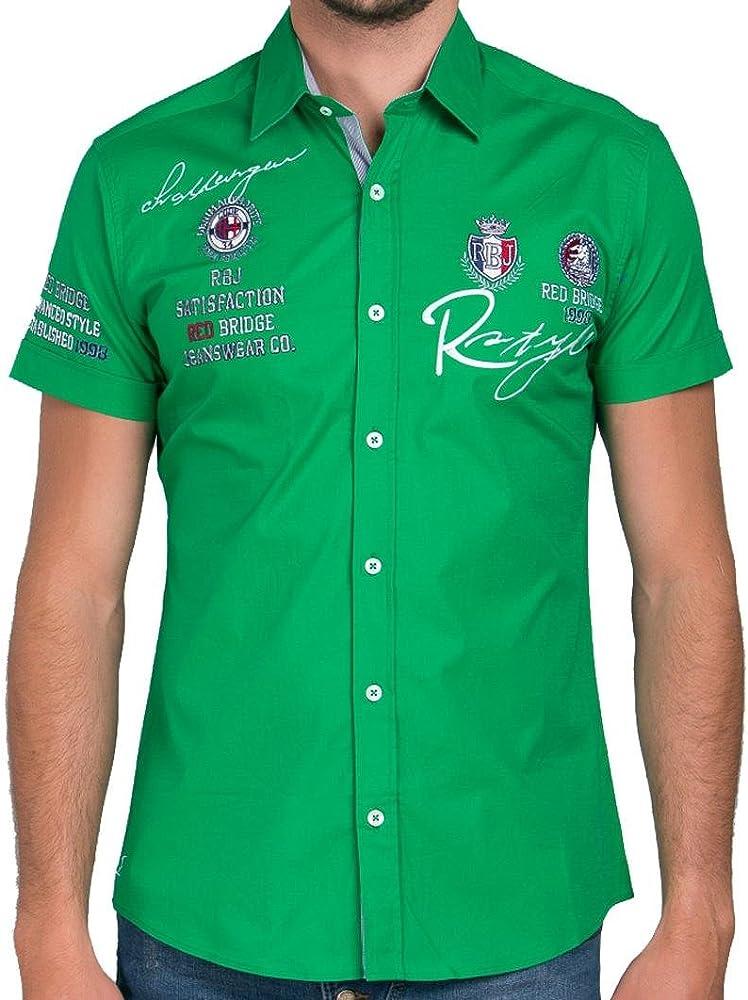 Redbridge - Camisa Regular fit de Manga Corta para Hombre, Talla 5XL, Color Verde: Amazon.es: Ropa y accesorios