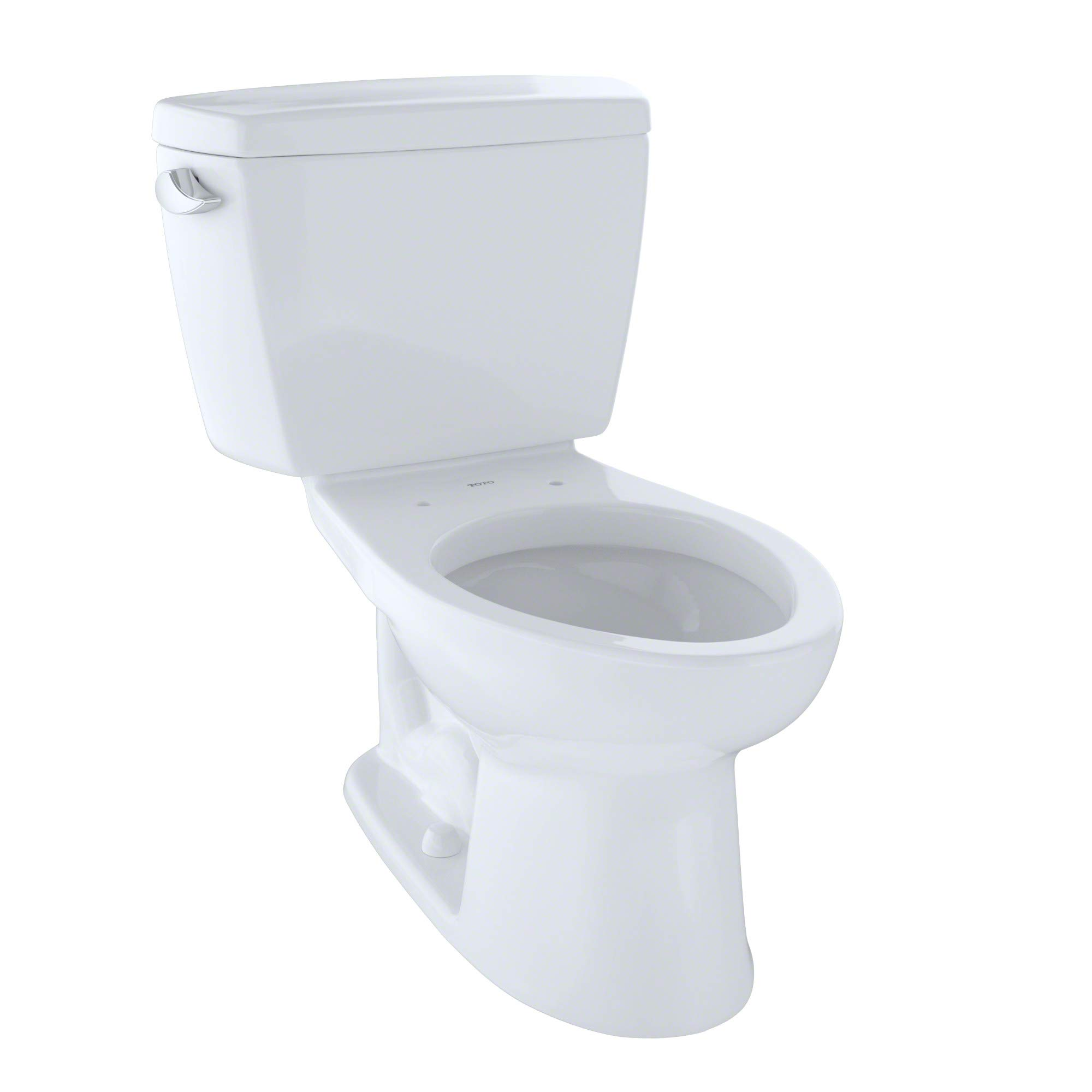 TOTO CST744SG#01 Drake 2-Piece Toilet with Elongated Bowl and Sanagloss,1.6 GPF, Glazed Cotton White by TOTO