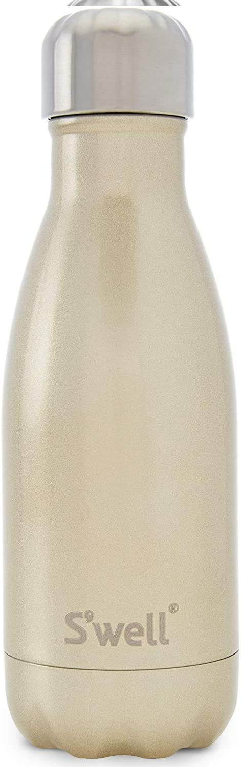 S'well Stainless Steel 9 Fl Oz-Sparkling Champagne-Triple-Layered Vacuum-Insulated Containers Keeps Drinks Cold for 27 Hours and Hot for 12-with No Condensation-BPA Free Water Bottle, 9oz