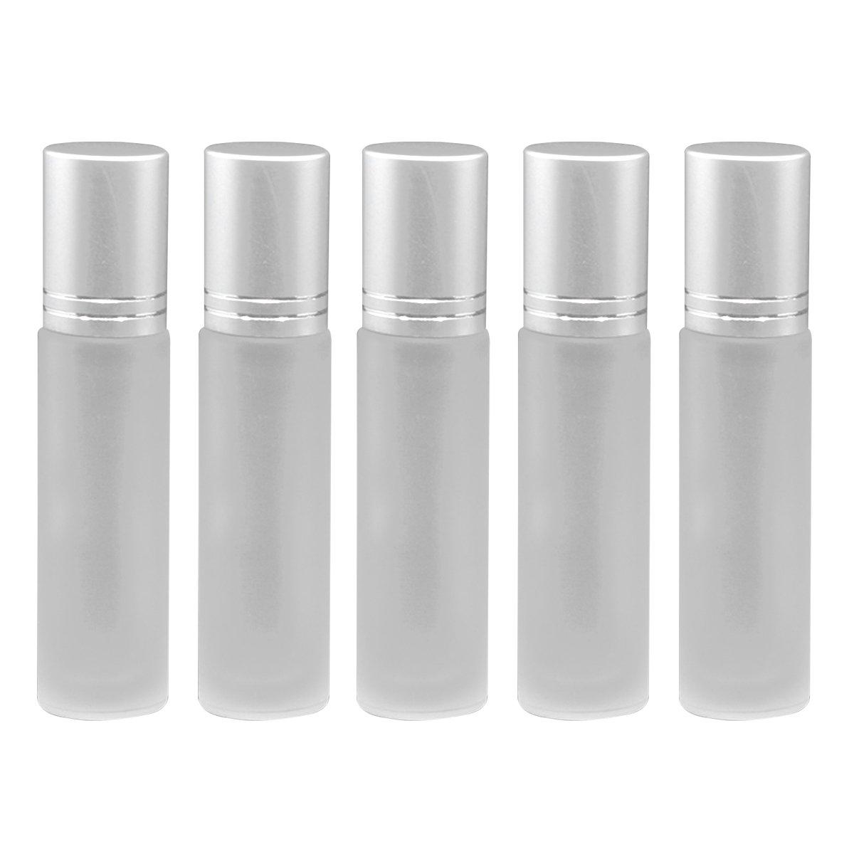 Healifty Glas Flaschen mit Roller Bällen Ätherisches Öl Roller Flaschen 10ml 5 Stück