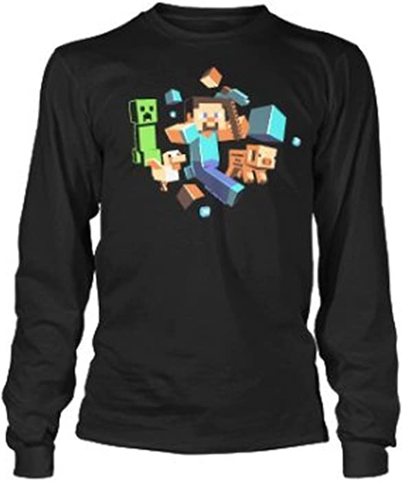Official Mojang Licensed Minecraft Long sleeve T-shirt for Kids Boys Girls Age