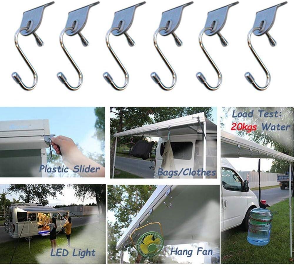 StepOK 5Pcs RV Awning Hooks Clothes Hanger Clip