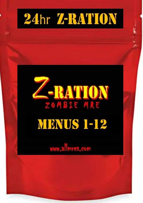 24 horas Z-Ration MRE (FSR) 1er Insp.Fecha 2020 - 2022 / NUEVA Z-Ration Zombie MRE line!: Amazon.es: Alimentación y bebidas