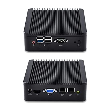 Linux Mini PC Ubuntu, Bay Trail j1900 Quad core 2 42 GHz, 4GB RAM 32GB SSD  WiFi Dual LAN Mini PC with Serial Port