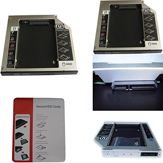 Generic 2nd Hard Drive Hdd Ssd Caddy for Toshiba Satellite L675d-s7049 L755-s5214 Swap Sn-208dn Uj880e Ts-l633f