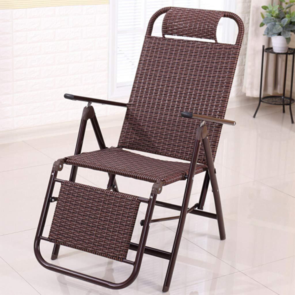 サンラウンジャー ラウンジチェアソファー折りたたみ式ポータブル家庭用シエスタ椅子多機能背もたれデッキチェア/サンラウンジャーガーデンオフィス屋外屋内ビーチチェア 折りたためる B07RXXSH9M