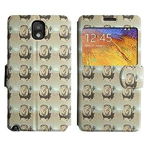 LEOCASE león oscuro Funda Carcasa Cuero Tapa Case Para Samsung Galaxy Note 3 N9000 No.1006057