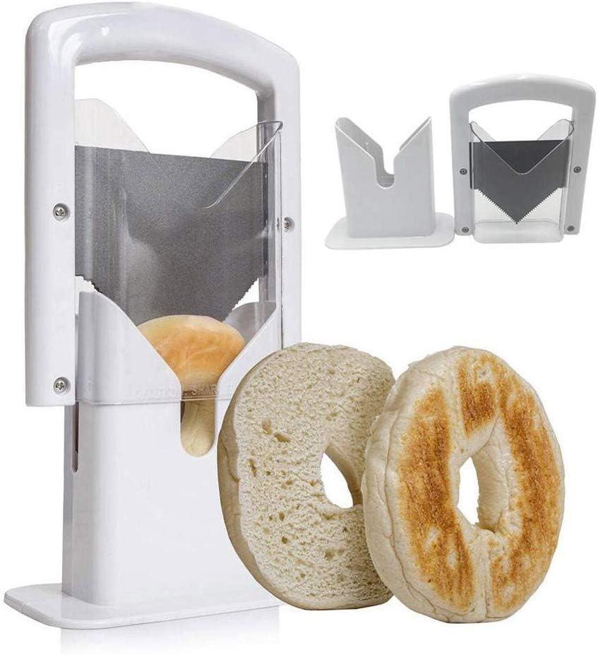 SofaRay Bagel Guillotine Slicer, Perfect Bagel Cutter, Minimal Chipping, Bread Cutter Kitchen Tool,Essential Kitchen Equipment