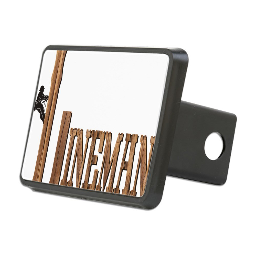 CafePress - Lineman Wood - Trailer Hitch Cover, Truck Receiver Hitch Plug Insert by CafePress