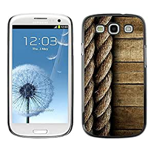 MOBMART Carcasa Funda Case Cover Armor Shell PARA Samsung Galaxy S3 - Twined Ropes And Wood Pattern Design