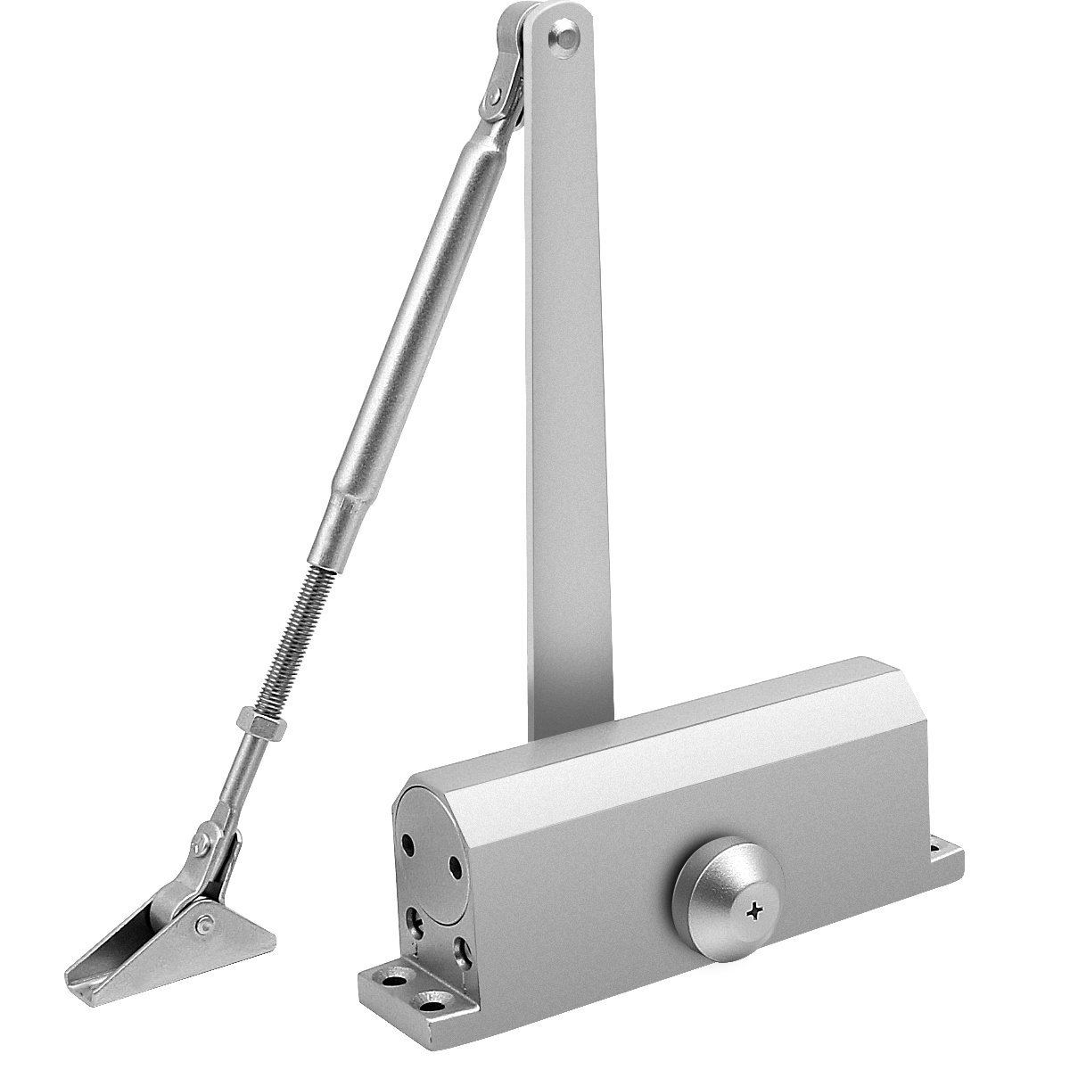 Onarway Adjustable Automatic Size 3 Spring Hydraulic Door Closer for Residential and Light Commercial Use with Fitting Template for Middle-Weight Door(Aluminum Alloy)