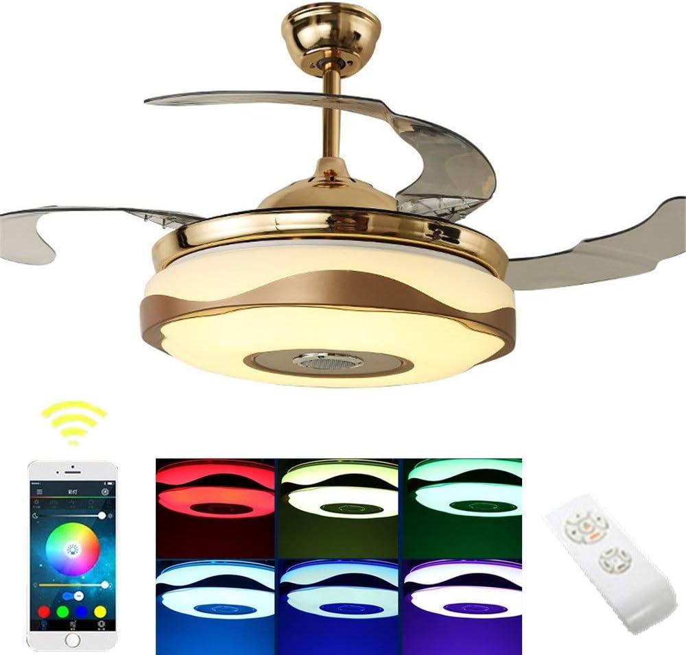 Ventilador Bluetooth Luz De Techo Regulable/Velocidad Del Viento ...