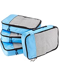 AmazonBasics Bolsas organizadoras de equipaje, 4 piezas medianas