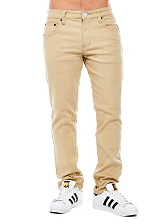 14863a2ba Victorious Mens Skinny Fit Denim Pants Jeans Brand Basic Slim Cut DL ...