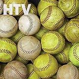 Softball and Baseball Pattern HTV, 12' x 12' Printed Heat Transfer Vinyl, SCO6504
