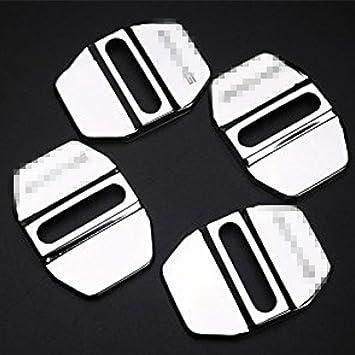 Fundas protectoras de acero inoxidable para cerraduras de puertas de coche, 4 unidades: Amazon.es: Coche y moto