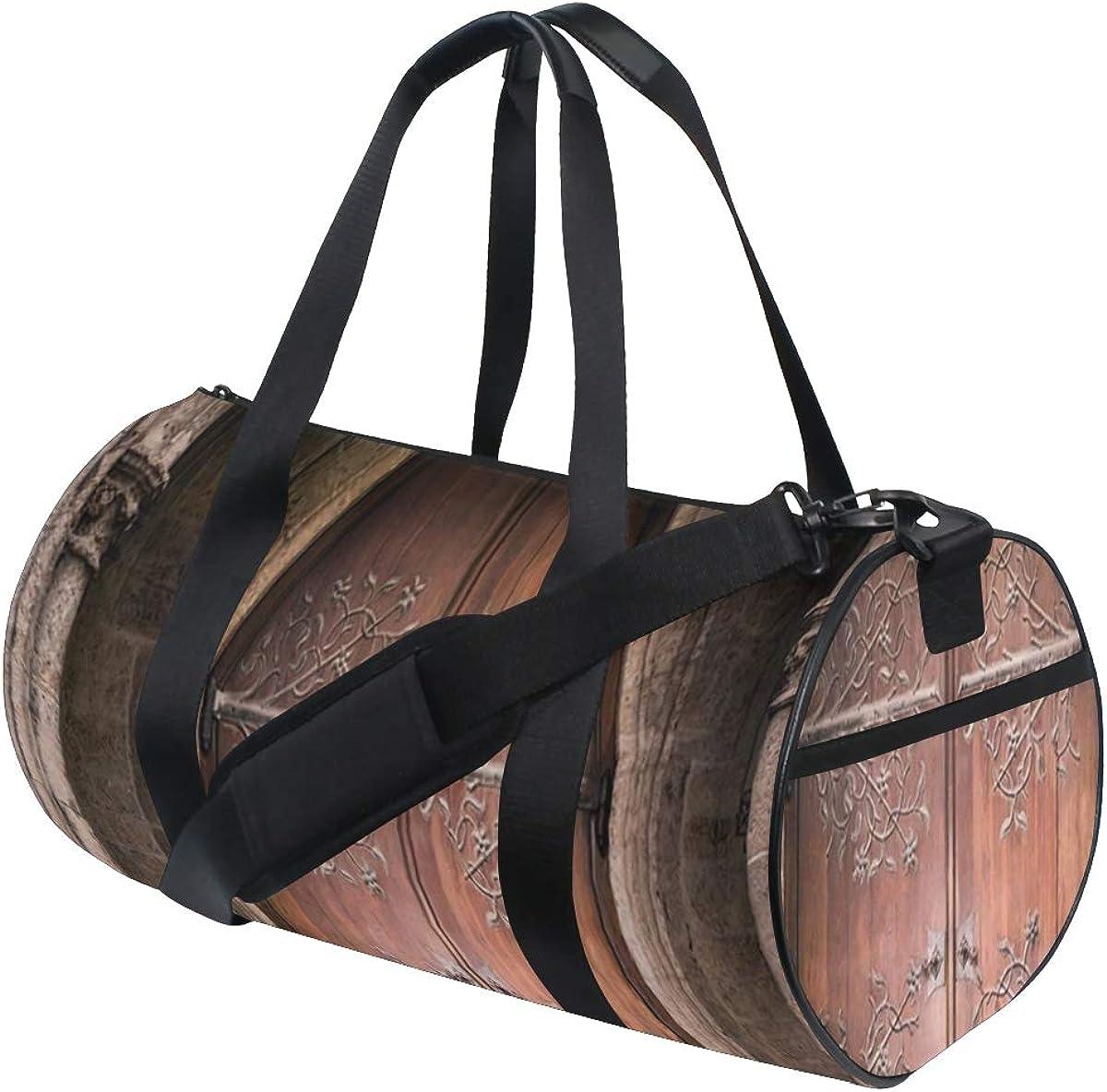 HARXISE Burro,Bolsa de equipaje de viaje Deporte Lienzo ligero Equipaje de fitness Bolso de tambor Desmontable