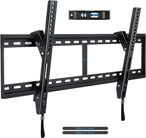 Mounting Dream Tilt TV Wall Mount Bracket for 42-84 Inch LED, LCD Flat Screen TVs, TV Mount up to VESA 800 mm and 132 LBS, One-Piece Wall Plate Easy for TV Centering on 16 32 Wood Studs MD2268-XL