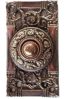 Victorian Solid Brass Electric DOOR BELL Vintage Antique Replica Hardware  Dark Bronze Finish