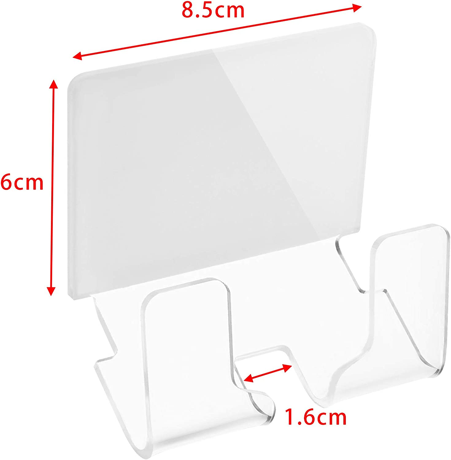 Clear Bluecell Clear Color Acrylic Home Office Wall-Mounted Charging Dock Bracket Holder Cable Winder for iPad Mobile Phone with Adhesive Tape