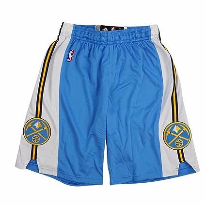 newest 2bcaa 0b839 Amazon.com : adidas Denver Nuggets NBA Light Blue Authentic ...