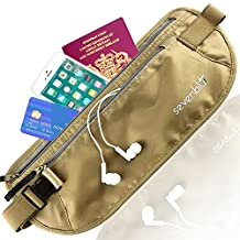 SevenBlu Soft Money Belt and Waist Pack - With Anti-Theft RFID Block - Hide Your Cash Undercover