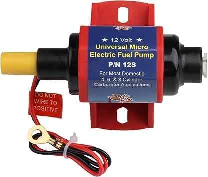 Carbole 12s Universal Elektrische Kraftstoffpumpe 12v Heavy Duty Metall 4 7 Psi Psi Niederdruck Inline Kraftstoffpumpe Nur Für Benzin Auto