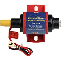 Bomba de combustible eléctrica universal, resistente 4-7 P.S.I, 12 V, 35 GPH, aplicación para gasolina, diésel, sólida, gasolina, autos, todoterrenos, caravanas, camiones