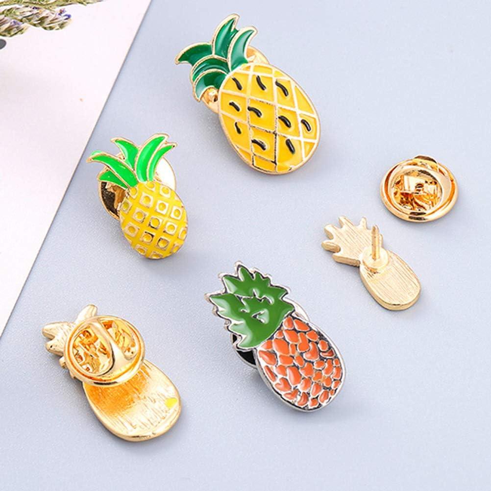Fenical 5 Pezzi Metallo Smalto Distintivo Pin Spilla Frutta Spilla Pin Spille Ananas
