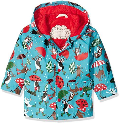 Dog Raincoats Coats - Hatley Little Boys' Printed Raincoats, Raining Dogs, 7