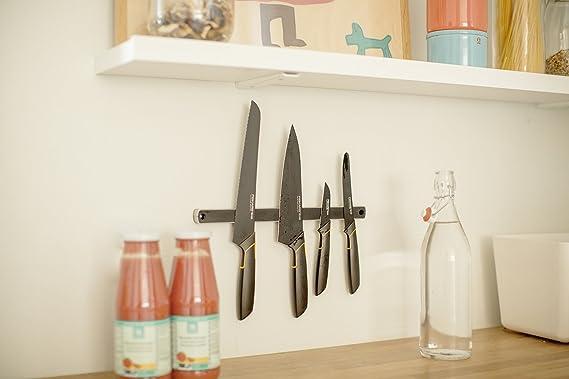 Fiskars Cuchillo para pelar, Diseño moderno, Hoja recta, Longitud total: 20 cm, Acero de calidad/Plástico, Edge, 1003091