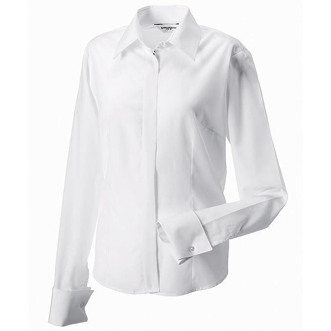 Para Blanco Collection es Russell Blanco Camisas Mujer Amazon wEXavx