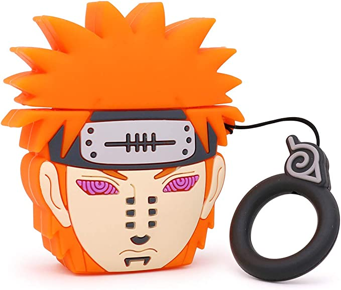 Amazon.com: Yonocosta Cute Airpods Case, Airpods 2 Case, 3D Cartoon Funny Cool Pain Naruto Airpod Case, Shockproof Full Protection Soft Silicone Charging Case Cover Skin with Keychain for Airpods 1&2