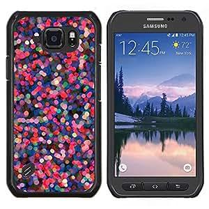 Eason Shop / Premium SLIM PC / Aliminium Casa Carcasa Funda Case Bandera Cover - Las luces del árbol de vacaciones Rosa Púrpura - For Samsung Galaxy S6 Active G890A