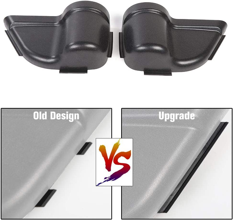 Black CheroCar JK Front Door Pockets Storage Inserts Side Organizer Box for Jeep Wrangler 2011-2018 JK JKU Interior Accessories