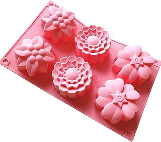 Stampi per Sapone in Silicone EKKONG 13 Pezzi Stampi in Silicone per Sapone 13pcs Muffin Cioccolato Cupcake Sapone Stampi in Silicone per Dolci