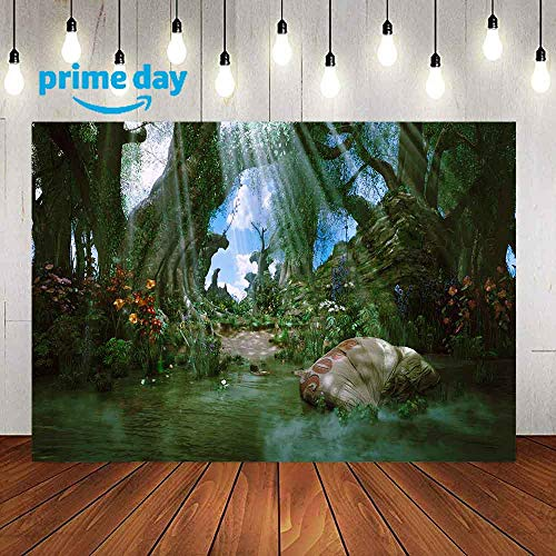 Fairytale Jungle Wizard Photography Backdrop, 9x6FT, Wizard OZ Themed Party Background, Photo Booth Studio Props LYLU216]()