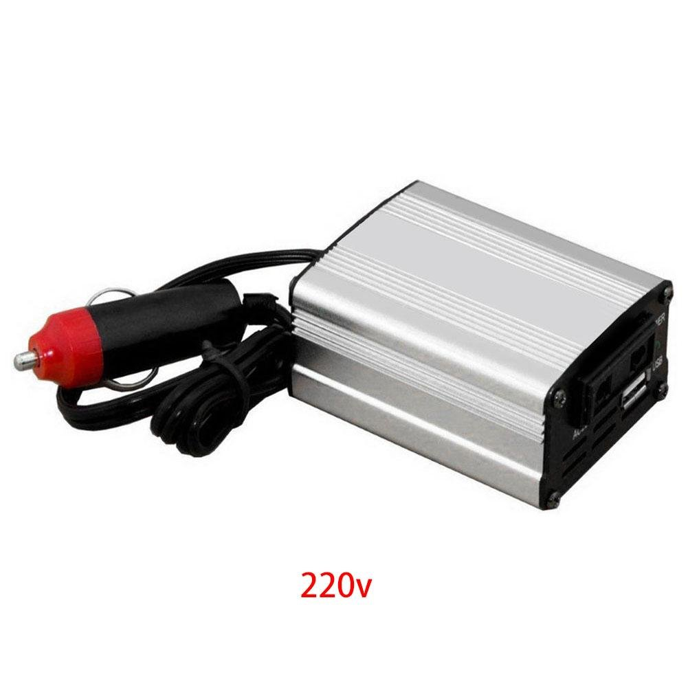 Leo565Tom 700  W Car Power Inverter DC 12  V a 220  V/110  V XYA200  Color Argento Auto Alimentazione convertitore Auto Car Vehicle Power Converter Alimentatore Caricabatterie Compatibile