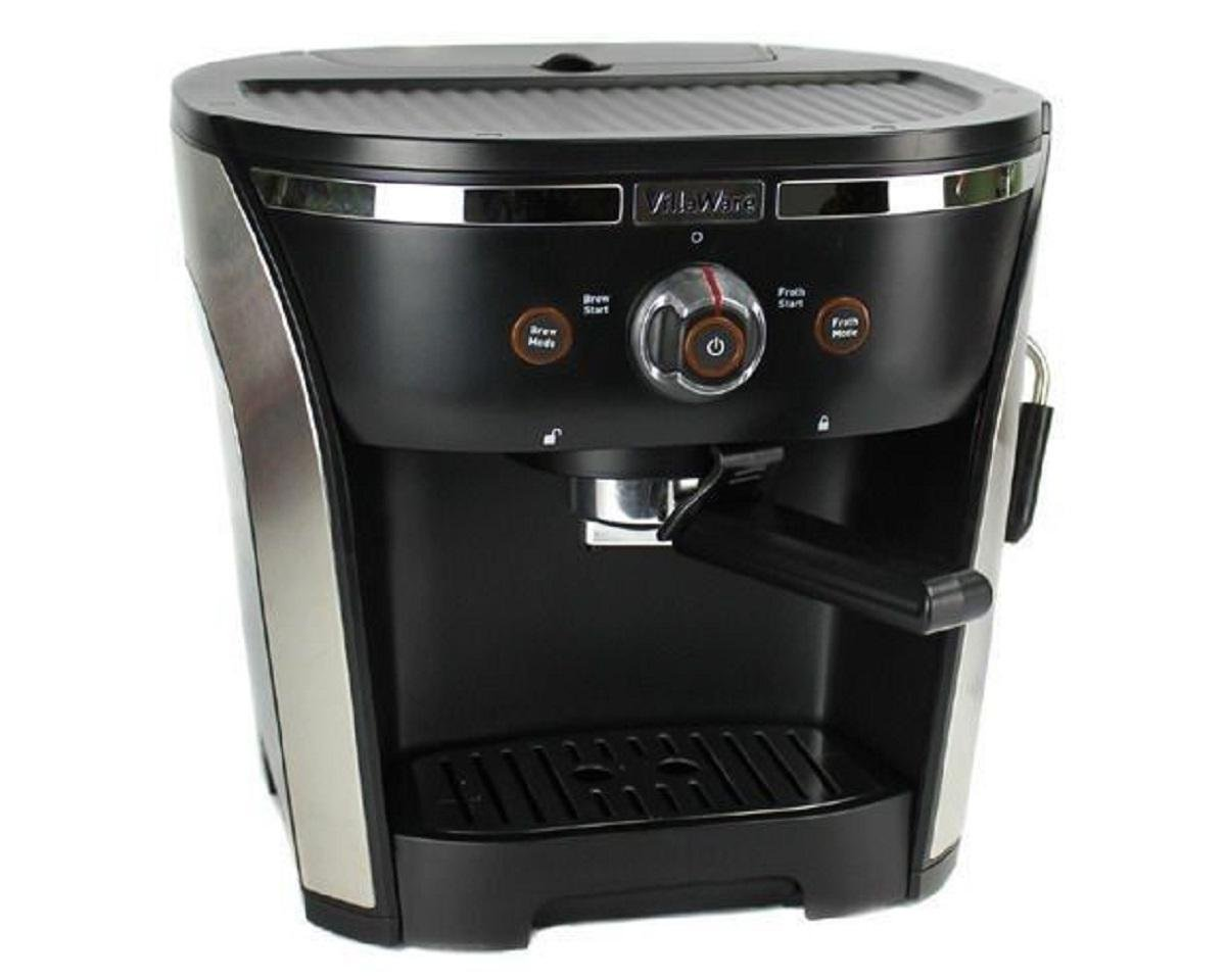 Villaware New NDVLEM1000 15 Bar Pressure Home Espresso/Cappuchino Maker, 2, Black and Silver by Villaware (Image #1)