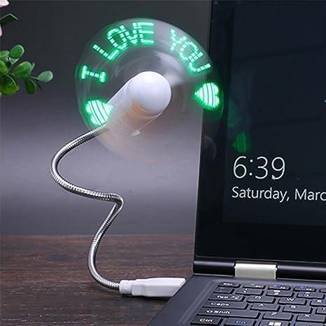 yifutang Ventilador del Mensaje USB Mini Ventilador LED de Mensaje ...