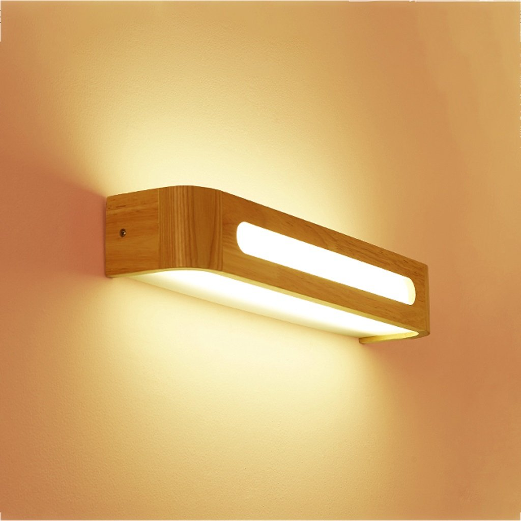 Hyun times Lámpara de pared de madera acrílico 35 * 8 * 8 cm de pared Escalera nórdica pasillo dormitorio espejo de baño LED espejo frontal Star home