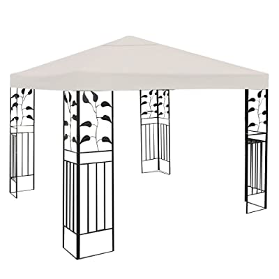 SUNDRY 10' X 10' Gazebo Top Cover Patio Canopy Replacement 1-Tier or 2-Tier 3 Color Protection Against UV Rays from Sun (1 Tier Beige): Garden & Outdoor