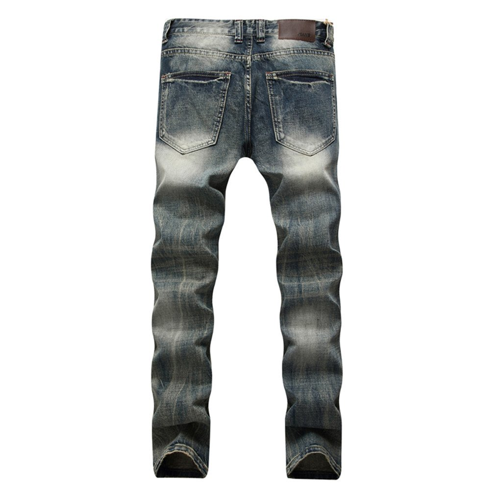 Torn Fashion Cotton Hole Design Mens Skinny Jeans